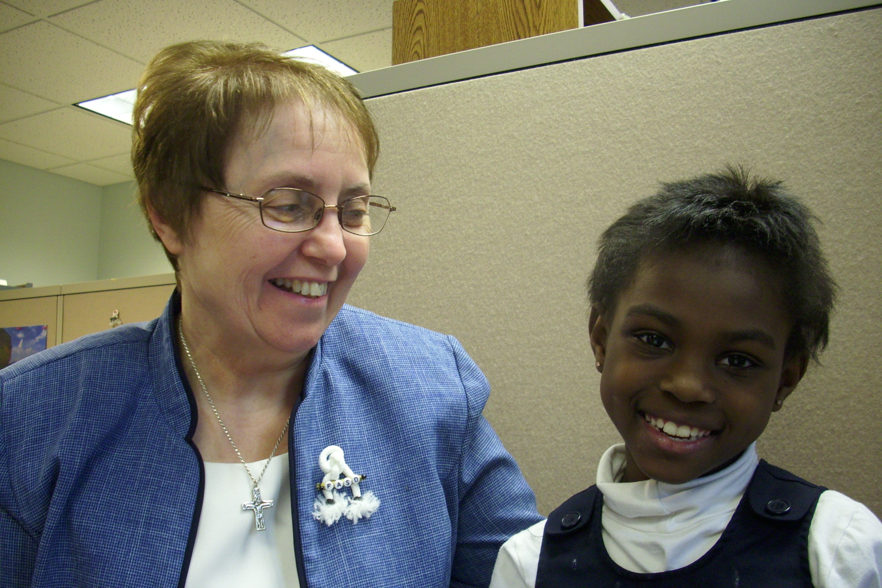 Sr. Suzette with FASD child
