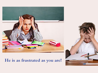 Frustrated Teacher & Student